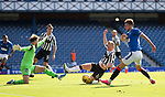 Rangers v St Mirren:  Borna Barisic crosses in for team mate Alfredo Morelos to score Rangers third goal