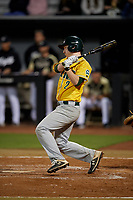 Siena Saints Zach Durfee (2) bats during a game against the UCF Knights on February 14, 2020 at John Euliano Park in Orlando, Florida.  UCF defeated Siena 2-1.  (Mike Janes/Four Seam Images)