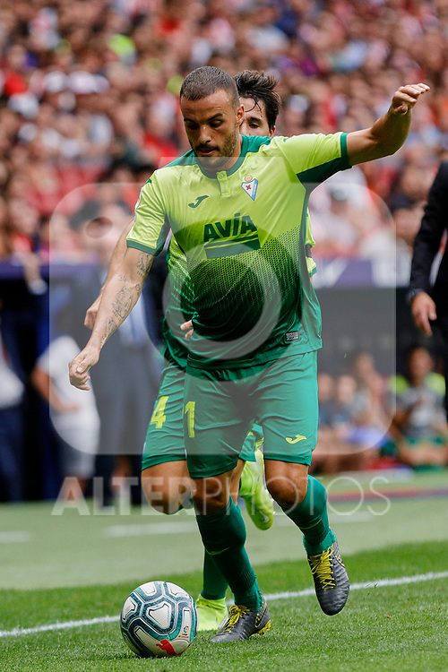 Pedro Leon of SD Eibar in action during La Liga match between Atletico de Madrid and SD Eibar at Wanda Metropolitano Stadium in Madrid, Spain.September 01, 2019. (ALTERPHOTOS/A. Perez Meca)
