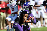 TCU Horned Frogs wide receiver Cameron Echols-Luper (15) in action during the game between the Oklahoma Sooners and the TCU Horned Frogs at the Amon G. Carter Stadium in Fort Worth, Texas. TCU defeats OU 37 to 33.