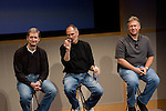 CUPERTINO, CA - AUGUST 7:  (L-R) Tim Cook, Chief Operating Officer, Apple CEO Steve Jobs and Phil Schiller EVP Product Marketing answers questions after Jobs introduced new versions of the iMac and iLife applications August 7, 2007 in Cupertino, California. The all-in-one desktop computers now have a slimmer design in aluminum casings with faster chips and glossy screens and is up to $300 cheaper then their predecessors. (Photograph by David Paul Morris)