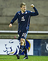 Dundee's Jim McAlister (20) after the second goal.