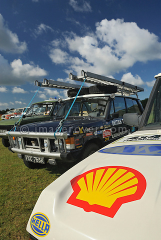 Record breaking Range Rover Turbo Diesel and Darien Gap Expedition Range Rover v8. Dunsfold Collection Open Day 2009. NO RELEASES AVAILABLE.