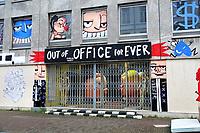 Nederland  Amsterdam   2021.   Lockdown. Out of Office for Ever. Selwyn Senatori.  Foto Berlinda van Dam / HH / ANP.