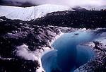 Alaska, Matanuska glacier, Climbers, camp, flooded crevasse, medial moraine, National Outdoor Leadership School, semester course,