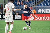 FOXBOROUGH, MA - MAY 22: Tommy McNamara #26 of New England Revolution during a game between New York Red Bulls and New England Revolution at Gillette Stadium on May 22, 2021 in Foxborough, Massachusetts.