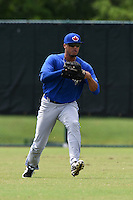 GCL Blue Jays outfielder Juan Tejada (21) during practice before a game against the GCL Braves on June 27, 2014 at the ESPN Wide World of Sports in Orlando, Florida.  GCL Braves defeated GCL Blue Jays 10-9.  (Mike Janes/Four Seam Images)