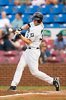 Winston-Salem catcher Cole Armstrong (33) makes contact versus Potomac at Ernie Shore Field in Winston-Salem, NC, Thursday, August 2, 2007.