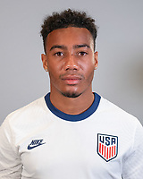 Jonathan Lewis during a portrait studio session for the U23 Olympic Qualifying team 2021.
