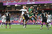 Alex SCOTT of Great Britain fires in a shot - Great Britain Women vs New Zealand Women - Womens Olympic Football Tournament London 2012 Group E at the Millenium Stadium, Cardiff, Wales - 25/07/12 - MANDATORY CREDIT: Gavin Ellis/SHEKICKS/TGSPHOTO - Self billing applies where appropriate - 0845 094 6026 - contact@tgsphoto.co.uk - NO UNPAID USE.
