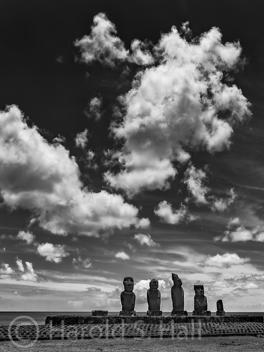 Easter Island is part of Chile. It was named Easter Island as it was first discovered on Easter 1722. This volcanic island is one of the most remote in the world. Its native name is Rapa Nui. Tourists and cruise ships visit for the many moai oversized stone carvings of heads.