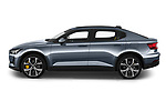 Car Driver side profile view of a 2020 Polestar Polestar-2 Pilot-Plus 5 Door Hatchback Side View