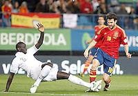 Spain's national team Cesc Fabregas against France's national team Mamadou Sakho during match. October 16, 2012. (ALTERPHOTOS/Alvaro Hernandez) /NORTEPhoto