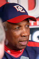 3 September 2005: Frank Robinson, Manager of the Washington Nationals, prior to a game against the Philadelphia Phillies. The Nationals defeated the Phillies 5-4 at RFK Stadium in Washington, DC. <br />
