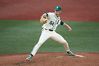 Charlotte 49ers relief pitcher Spencer Giesting (54) in action against the Tennessee Volunteers at Hayes Stadium on March 9, 2021 in Charlotte, North Carolina. The 49ers defeated the Volunteers 9-0. (Brian Westerholt/Four Seam Images)