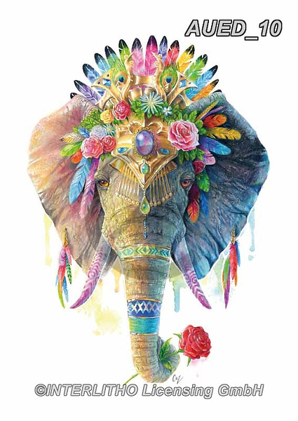Carlie, REALISTIC ANIMALS, REALISTISCHE TIERE, ANIMALES REALISTICOS, paintings+++++Elephant-Spirit-Animal,AUED10,#A#, EVERYDAY ,fantasy