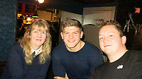 Photo: Richard Lane/Richard Lane Photography. Toulouse v Wasps.  European Rugby Champions Cup. 15/12/2018. Wasps supporters with Jack Willis.