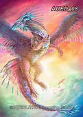 Carlie, REALISTIC ANIMALS, REALISTISCHE TIERE, ANIMALES REALISTICOS, paintings+++++Dragon-Sunset,AUED08,#A#, EVERYDAY ,fantasy