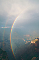 Rainbow over Grand Canyon <br />   from Hopi Point,  South Rim<br /> Grand Canyon National Park<br /> Colorado Plateau,  Arizona