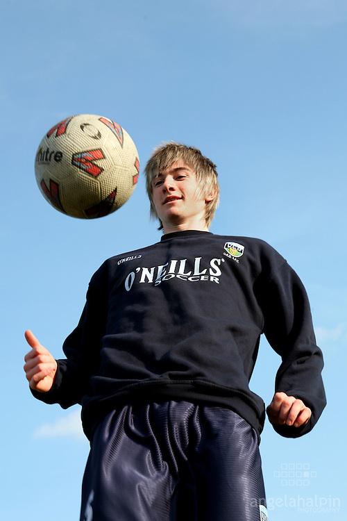 Ronan Finn, Soccor player, Sports Scholarships at UCD.Pic Angela Halpin