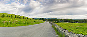 Panoramic of the Rocks Estate in Bethlehem, New Hampshire USA during the spring months. This scene consists of six images stitched together.