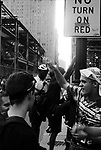 Protests and demonstrations at the Republican National Convention, Philadelphia, PA, 2000.<br /> The locations include Dilworth Plaza, South Broad Street, and Independence Mall.
