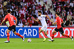 Abdulla Yusuf Helal of Bahrain (C) in action during the AFC Asian Cup UAE 2019 Round of 16 match between South Korea (KOR) and Bahrain (BHR) at Rashid Stadium on 22 January 2019 in Dubai, United Arab Emirates. Photo by Marcio Rodrigo Machado / Power Sport Images