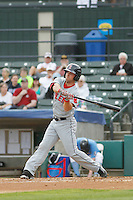 Salem Red Sox outfielder Cole Sturgeon (21) at bat during a game against the Myrtle Beach Pelicans at Ticketreturn.com Field at Pelicans Ballpark on May 6, 2015 in Myrtle Beach, South Carolina.  Salem defeated Myrtle Beach  5-4. (Robert Gurganus/Four Seam Images)