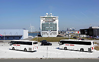 Nederland IJmuiden - 2019. Felison Cruise Terminal. Cruiseschip Ventura. . Foto Berlinda van Dam / Hollandse Hoogte
