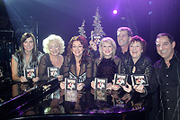 Celine Dion Mother and sister give a preview of their Christmas show at the Casion of Montreal , Fall 2005<br /> photo : (c) by JP Proulx - Images Distribution