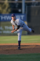July 7, 2009: Tri-City Dust Devils' Kyle Walker pitches against the Salem-Keizer Volcanoes during a Northwest League at Volcanoes Stadium in Salem, Oregon.