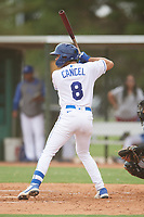 Gabriel Cancel (8) of the ACL Royals Blue during a game against the ACL Diamondbacks on September 17, 2021 at Surprise Stadium in Surprise, Arizona. (Tracy Proffitt/Four Seam Images)