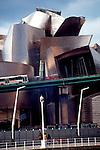 Bilbao, Spain, Guggenheim Museum Bilbao, designed by Frank Gehry opened in 1997 and displays expressionist modern art. Museo Guggenheim Bilbao,.