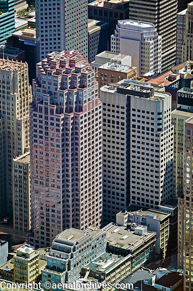 aerial photograph of 333 Bush Street, 101 Montgomery Street and adjacent office towers, San Francisco, California