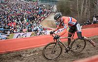 Corne Van Kessel (NED/Telenet-Fidea)<br /> <br /> Elite Men's Race<br /> UCI 2017 Cyclocross World Championships<br /> <br /> january 2017, Bieles/Luxemburg