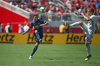 Santa Clara, CA - Sunday July 22, 2018: A friendly match between the San Jose Earthquakes and Manchester United FC finished scoreless at Levi's Stadium.
