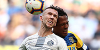 Calcio, Serie A: Inter Milano-Parma, Giuseppe Meazza stadium, September 15, 2018.<br /> Inter's Ivan Perisic (l) in action with Parma's captain Bruno Alves (r) during the Italian Serie A football match between Inter and Parma at Giuseppe Meazza (San Siro) stadium, September 15, 2018.<br /> UPDATE IMAGES PRESS/Isabella Bonotto