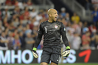 U.S goalkeeper Tim Howard screams at his defence..USMNT defeated Guatemala 3-1 in World Cup qualifying play at LIVESTRONG Sporting Park, Kansas City, KS.