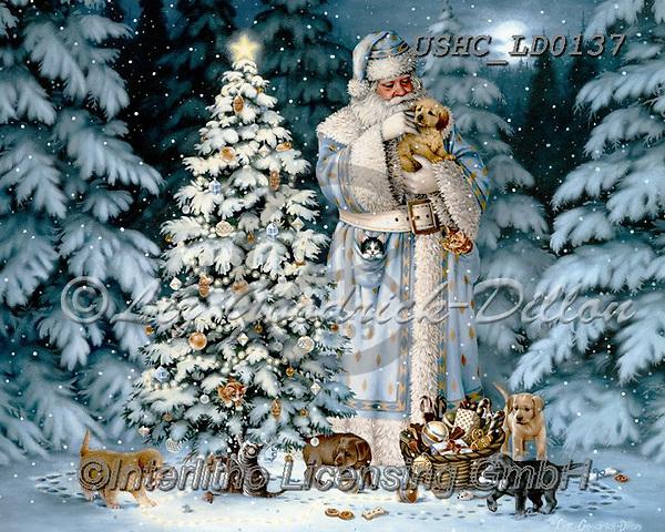 Liz,CHRISTMAS SANTA, SNOWMAN, WEIHNACHTSMÄNNER, SCHNEEMÄNNER, PAPÁ NOEL, MUÑECOS DE NIEVE, LizDillon, paintings+++++,USHCLD0137,#X# ,white Santa