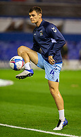 2nd October 2020; St Andrews Stadium, Coventry, West Midlands, England; English Football League Championship Football, Coventry City v AFC Bournemouth; Michael Rose of Coventry City volleys the ball during the warm up