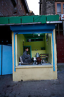 A dairy shop in early morning. Srinagar, Kashmir, India. © Fredrik Naumann/Felix Features