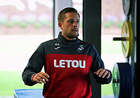 Pictured: Gylfi Sigurdsson trains in the gym. Tuesday 11 July 2017<br /> Re: Swansea City FC training at Fairwood training ground, UK