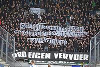 VOETBAL: HEERENVEEN: 27-10- 2019, Abe Lenstra Stadion, SC Heerenveen - FC Groningen, uitslag 1-1, protest van de FC Groningen fans, ©foto Martin de Jong