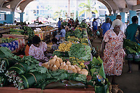 Local people shopping at the daily open market, Port Vila, Efate Island, Vanuatu.
