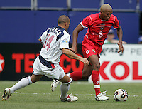 July 24, 2005: East Rutherford, NJ, USA: Panama's Alberto Blanco (8) chases Alberto Blanco (8) of Panama during the CONCACAF Gold Cup Finals at Giants Stadium.  The USMNT won 3-1 on penalty kicks.