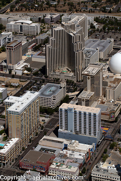 aerial photograph of downtown Reno, Washoe County, Nevada