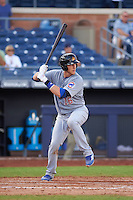 Mesa Solar Sox catcher Cael Brockmeyer (16) at bat during an Arizona Fall League game against the Peoria Javelinas on October 21, 2015 at Peoria Stadium in Peoria, Arizona.  Peoria defeated Mesa 5-3.  (Mike Janes/Four Seam Images)