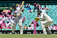 9th January 2021; Sydney Cricket Ground, Sydney, New South Wales, Australia; International Test Cricket, Third Test Day Three, Australia versus India; Manish Pandey of India lets one through to Tim Paine of Australia