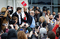 Pictured: Jeremy Corbyn at the Patti Pavilion in Swansea, Wales, UK. Saturday 07 December 2019<br /> Re: Labour Party leader Jeremy Corbyn pre-election campaign  at the Patti Pavilion in Swansea, Wales, UK.