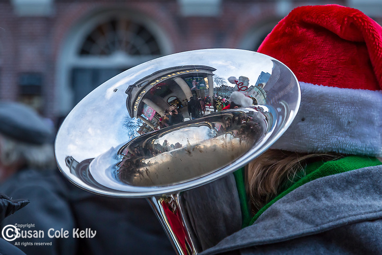 Tuba Christmas at the Faneuil Hall Marketplace, Boston, Massachusetts, USA